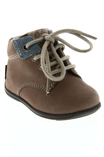 aster chaussures enfant de couleur marron
