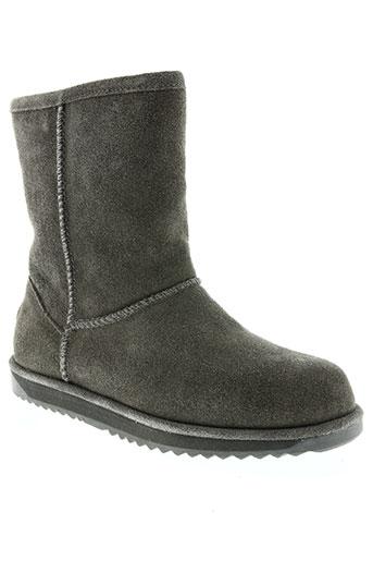 emu australia chaussures femme de couleur gris