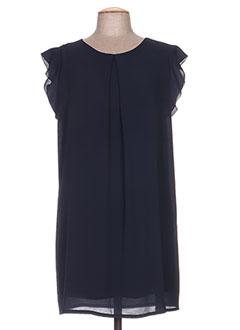 Robe mi-longue bleu CLARENCE ET JUDE pour femme
