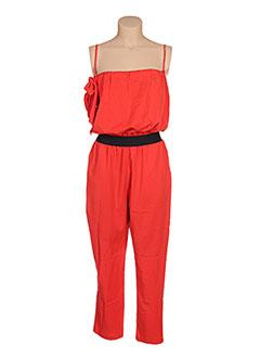 Combi-pantalon rouge CLARENCE ET JUDE pour femme