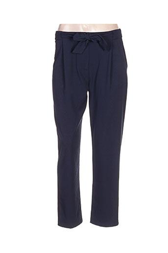 Pantalon casual bleu CLARENCE ET JUDE pour femme