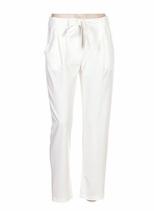 Pantalon casual blanc CLARENCE ET JUDE pour femme
