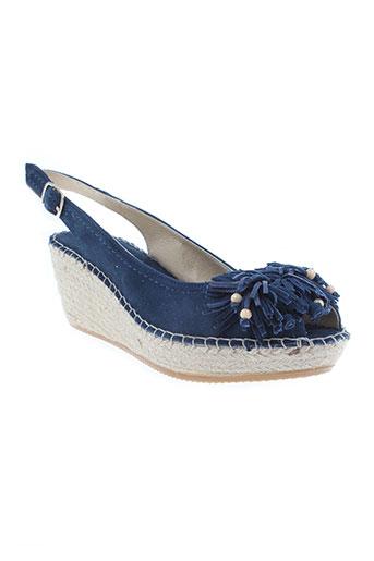 la maison de l'espadrille chaussures femme de couleur bleu