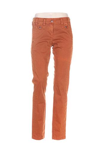 sandwich pantalons femme de couleur orange