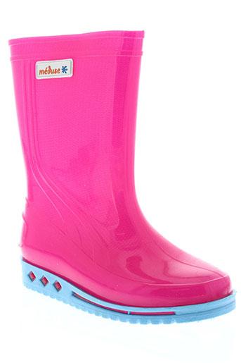 meduse chaussures fille de couleur rose