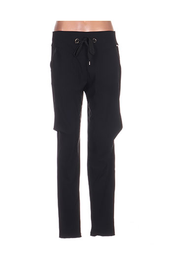 mc planet pantalons femme de couleur noir