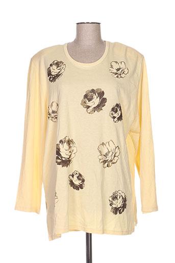 T-shirt manches longues jaune DONNA BELLA pour femme