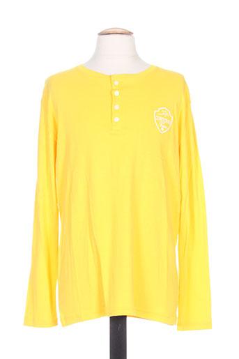 T-shirt manches longues jaune CORDOVAN pour homme