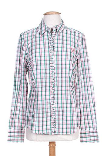 mc gregor chemises femme de couleur vert