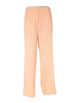 Pantalon casual orange FRANK EDEN pour femme