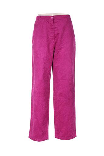 gerard matel pantalons femme de couleur rose