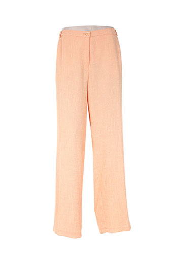 frank eden pantalons femme de couleur orange