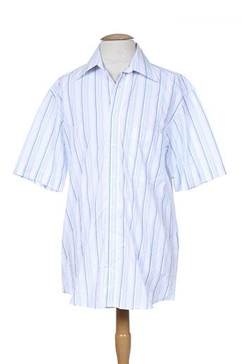 Chemise manches courtes bleu ADAM pour homme
