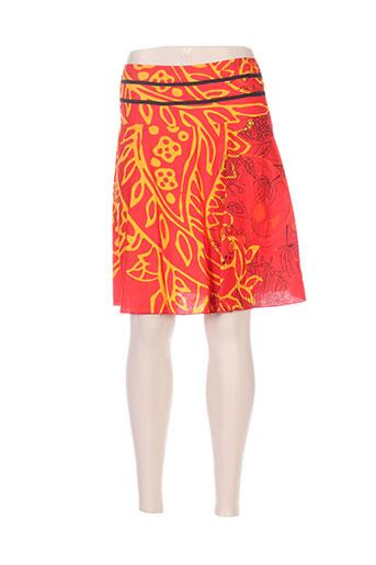 Jupe courte rouge ALLER SIMPLEMENT pour femme