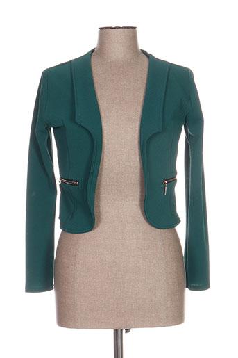 nt vestes femme de couleur vert