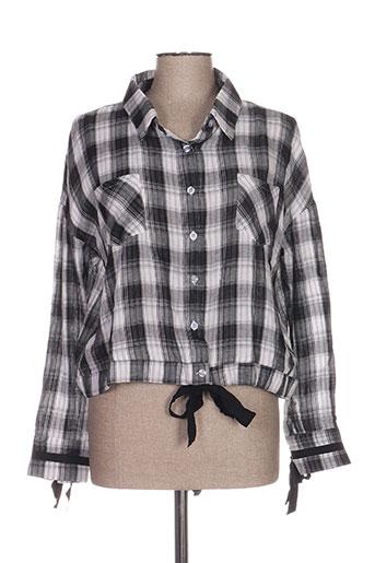 sweewë chemises femme de couleur noir