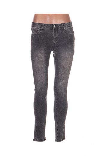 toxik3 jeans femme de couleur gris