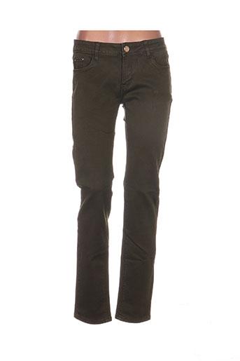 r.display jeans femme de couleur vert