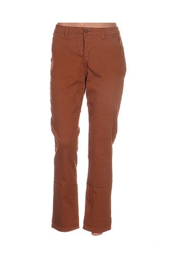 r.display pantalons femme de couleur marron