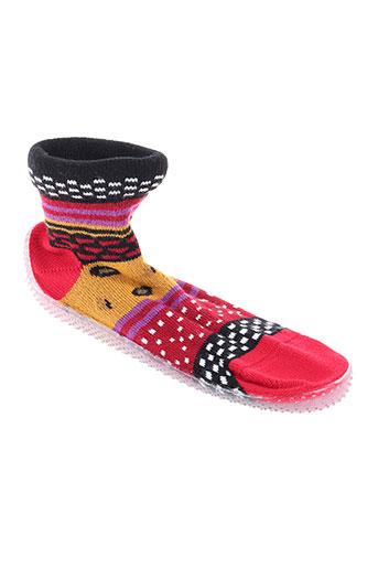 berthe aux grands pieds chaussures fille de couleur rouge