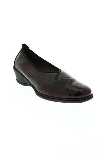notton chaussures femme de couleur rouge