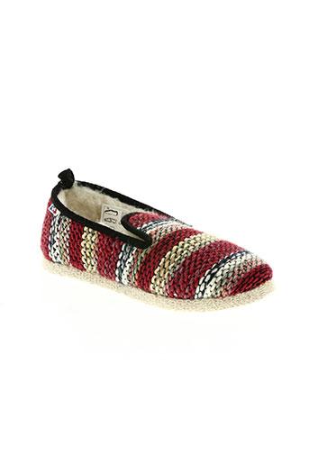 monchausson chaussures femme de couleur rouge