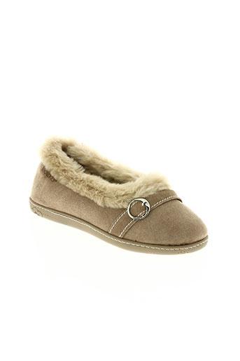 isotoner chaussures femme de couleur beige