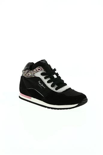 pepe jeans chaussures fille de couleur noir