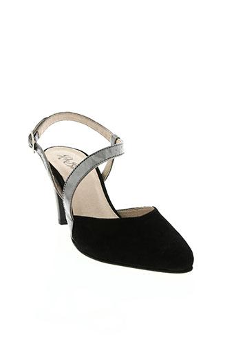 rebelles chaussures femme de couleur noir