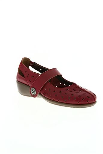 telles qu'elles chaussures femme de couleur rouge