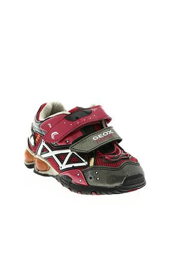 geox chaussures garçon de couleur rouge