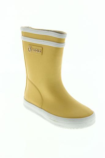 aigle chaussures enfant de couleur jaune