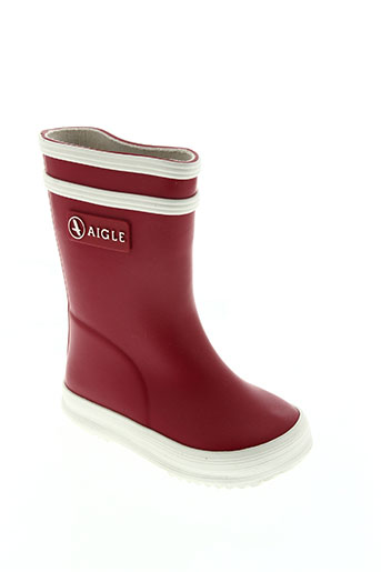 aigle chaussures enfant de couleur rouge