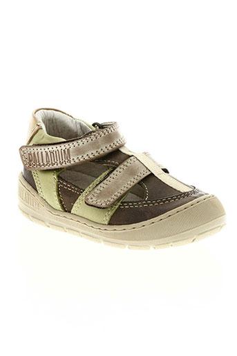 palladium chaussures garçon de couleur beige