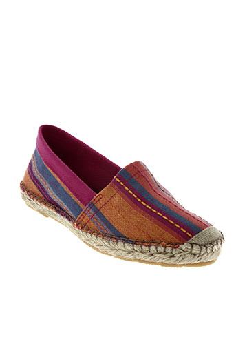 la vague chaussures femme de couleur rose