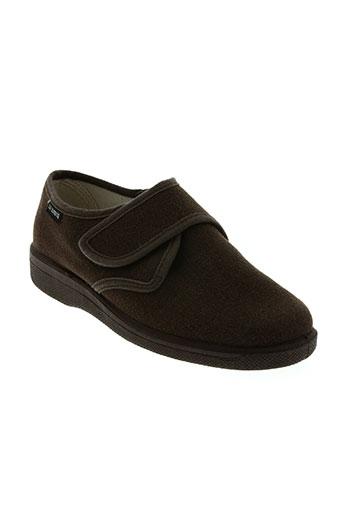 la vague chaussures homme de couleur marron