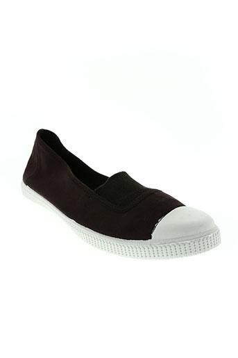 la vague chaussures femme de couleur marron
