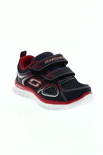 skechers chaussures garçon de couleur bleu
