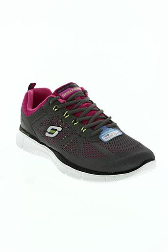 skechers chaussures femme de couleur rose