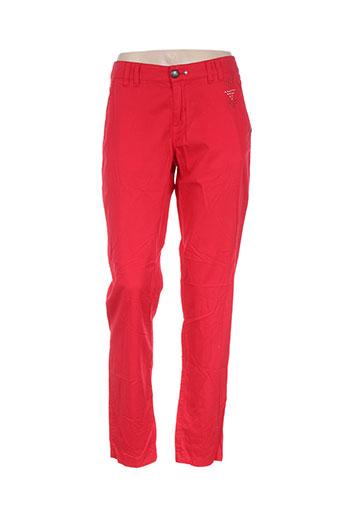 ddp pantalons femme de couleur rouge