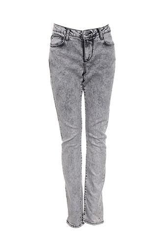 geisha jeans femme de couleur gris