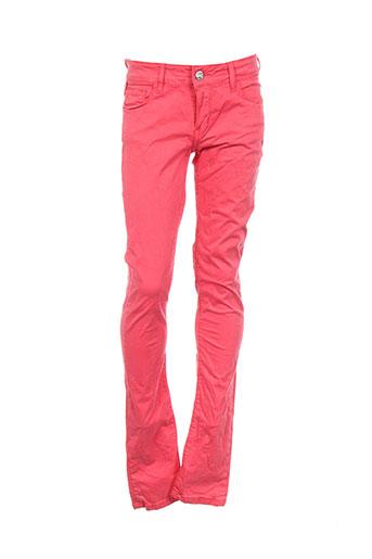 chipie pantalons fille de couleur rouge