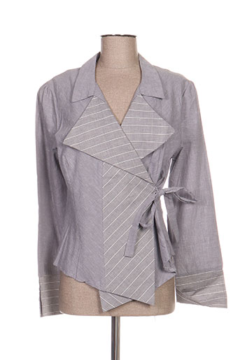 a.c.b by j.e creation vestes femme de couleur gris