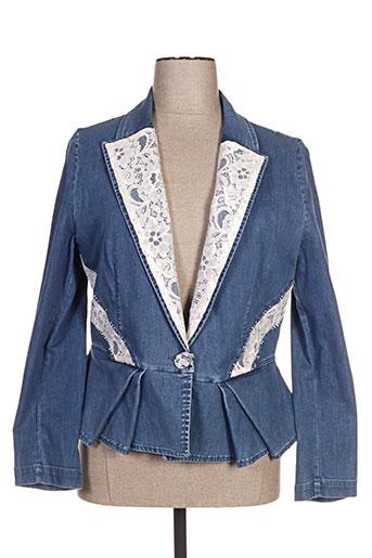 aquajeans vestes femme de couleur bleu