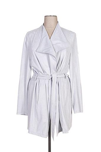 Manteau long gris BURETTI pour femme