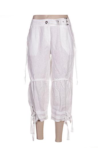 areline pantacourts femme de couleur blanc
