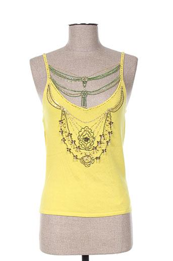 luisa cerano chemises femme de couleur jaune