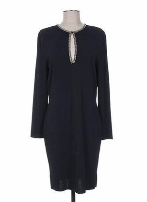 Robe mi-longue noir ATTITUDE pour femme