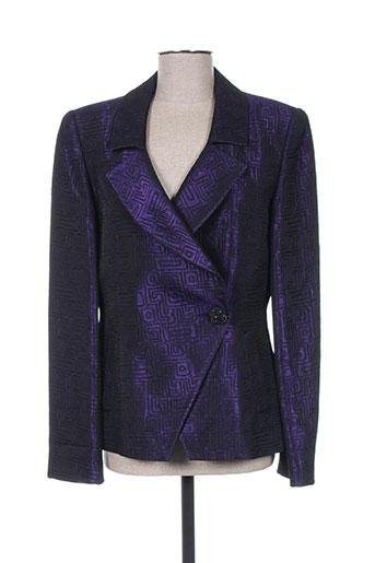 m daquin vestes femme de couleur violet