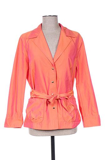 hauber vestes femme de couleur orange